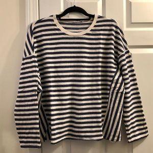 Zara Striped Sweatshirt Navy & Cream